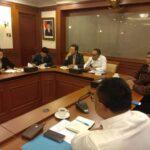Dengan Menteri Tenaga Kerja BP. M.Hanif Dhakiri dan Duta Besar LBBP Korea Selatan Mr. Kim Chang Beom terkait penyelesaian PT. Selaras Kausa Busana (Dalam PKPU)